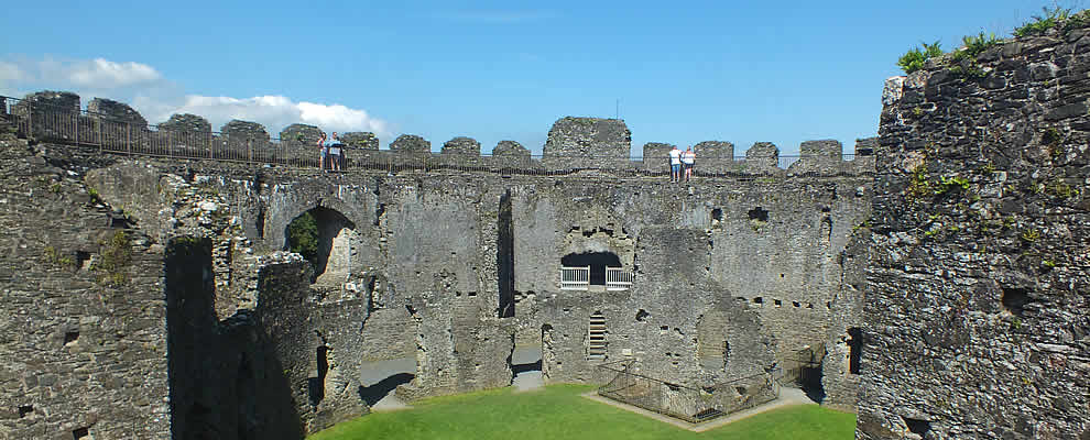 Interior of Restormel Castle, Lostwithiel